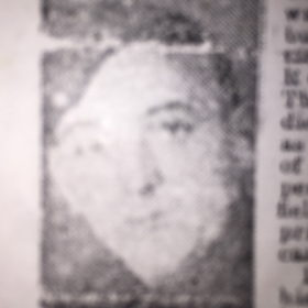 Newspaper photo of Gunner C S Lowe - possibly from an Obituary Report.