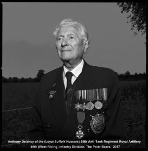 Sergeant Anthony Delahoy, 55th Anti-Tank Regiment, Royal Artillery.