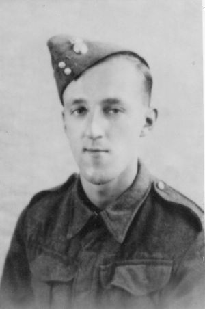 Private Arthur Joseph CONWAY, while serving with the Royal Northumberland Fusiliers in 1940.