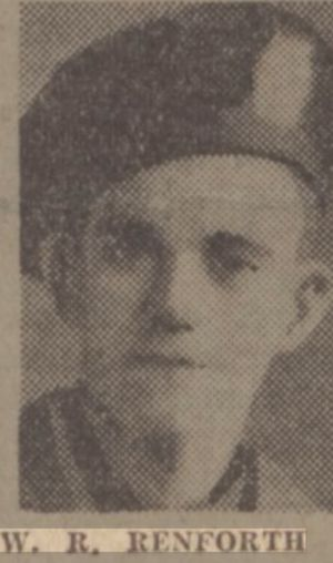 Private William Ridley Renforth 1st Tyneside Scottish.