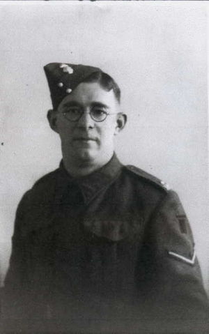 Fusilier Harold Suggett - pictured as Lance Corporal