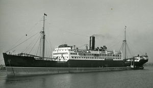 The converted liner SS Yoma on which Sapper Kitchener was killed.